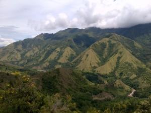 Pemandangan saat perjalanan menuju Tana Toraja