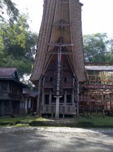 Rumah Tongkonan dengan banyak tanduk kerbau @ Kete Kesu