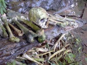 Kerangka di Pemakaman KeteKesu
