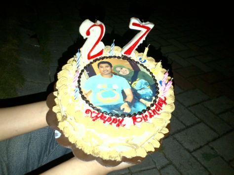 Cake untuk Ultah si Bung Laksono yang ke 27
