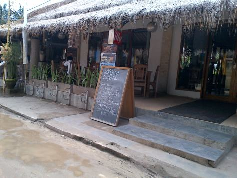 Sebuah Cafe di Gili Trawangan