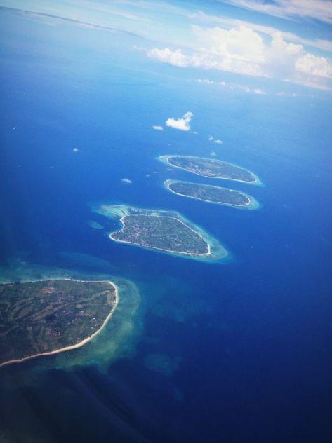 Pulau Lombok di lihat dari Pesawat (By : Mas Damba)