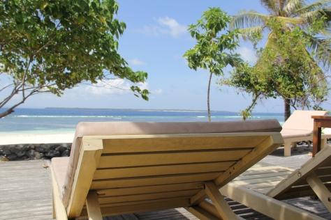 Tempat Bersantai di salah satu cafe, Pantai Bara