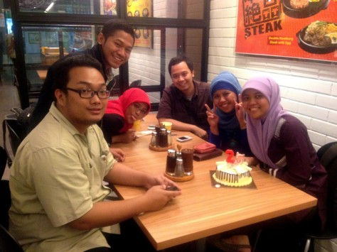 Ultah Ke 25 tahun Kakak Friztah @PepperLunch Makassar