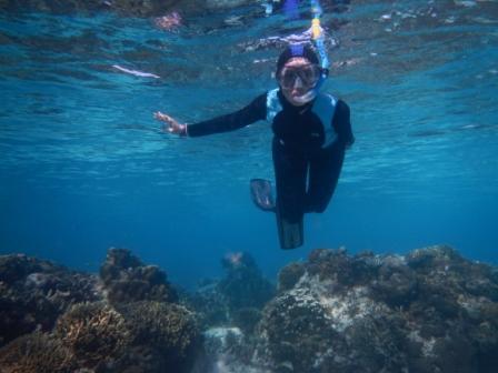 It's Me di taman terumbu karang..hehehe